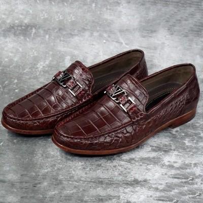 Giày lười da cá sấu