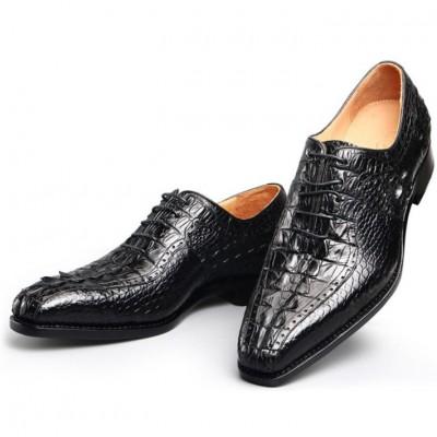 Giày tây da cá sấu màu đen